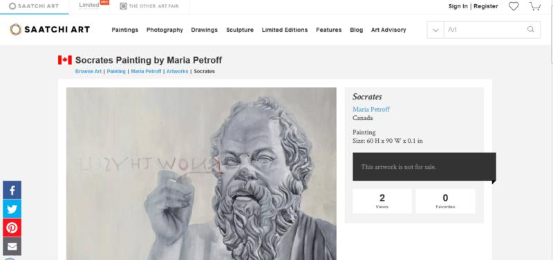 как продвигать художницу? Используем профиль на международной арт галерее saatchi